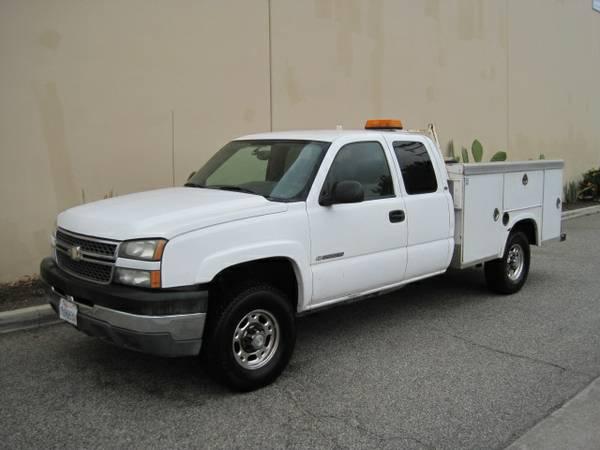 2005 Chevy Chevrolet Silverado 2500 Hd Extended Cab Service Truck