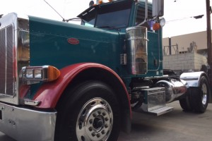 Emission Compliant Pete 379 EXHD Single Axle Daycab with PTO